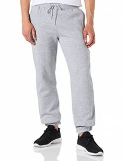 Build Your Brand Herren Relaxed Sporthose Heavy Sweatpants, Grau (Heather Grey 00431), L von Build Your Brand