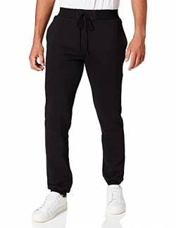 Build Your Brand Herren Relaxed Sporthose Heavy Sweatpants, Schwarz (Black 00007), S von Build Your Brand