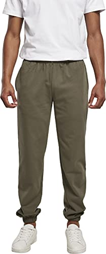Build Your Brand Herren Basic Sweatpants Hose, Olive, 4XL von Build Your Brand