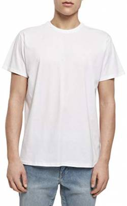 Build Your Brand Mens Basic T-Shirt, White, L von Build Your Brand