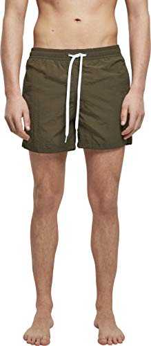 Build Your Brand Mens Swim Shorts, Olive, M von Build Your Brand