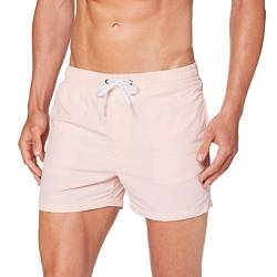 Build Your Brand Mens Swim Shorts, pink, S von Build Your Brand