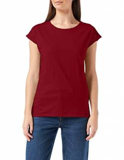Build Your Brand Womens Ladies Extended Shoulder Tee T-Shirt, Burgundy, 4XL von Build Your Brand