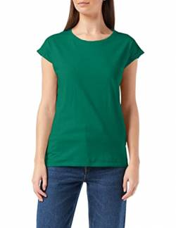Build Your Brand Womens Ladies Extended Shoulder Tee T-Shirt, Forest Green, M von Build Your Brand