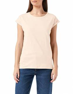 Build Your Brand Womens Ladies Extended Shoulder Tee T-Shirt, pink, L von Build Your Brand