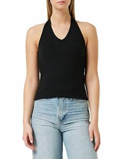 Build Your Brand Damen Ladies Neckholder T-Shirt, Black, M von Build Your Brand