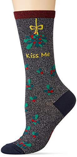 Burlington Damen Kiss Mas Socken, blau (dark navy 6370), 36-41 von Burlington
