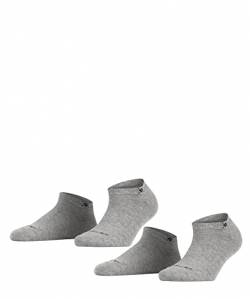 Burlington Damen E.day SN 2P Sneakersocken, Blickdicht, Grau, 36-41 (2er Pack) von Burlington