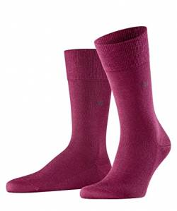 Burlington Herren Leeds M SO Socken, Blickdicht, Rot (Merlot 8005), 40-46 von Burlington