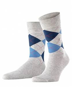 Burlington Herren King M SO Socken,Grau (Light Grey 3400), 40-46 von Burlington