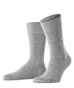 Burlington Herren Lord M SO Socken, Grau (Light Grey Melange 3390), 40-46 von Burlington