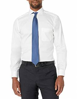 "Buttoned Down Tailored Fit Cutaway-Collar Solid Non-Iron Dress Shirt Smoking Hemd, white/pockets, 17"" Neck 36"" Sleeve von Buttoned Down"