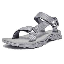 CAMEL CROWN Unisex Sandals Verstellbare Klettertrittsandalen Athletic Fisherman Hiking, Grau, Gr.- 44 EU/9 UK von CAMEL CROWN