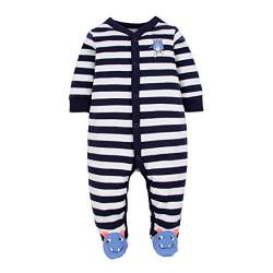CARETOO Unisex Baby Schlafstrampler Bärchen, Baumwolle Pyjamas Cartoon Overalls mit 0-12 Monate von CARETOO