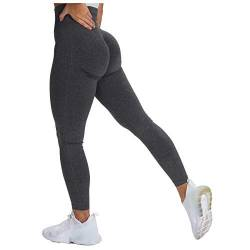 CHAOEN Tight Damen Yoga Leggings Sport Hose Hoher Taille Blickdicht Fitnesshosen Push Up Stretch Slim Leggins Laufhose Langhose Sporthose von CHAOEN