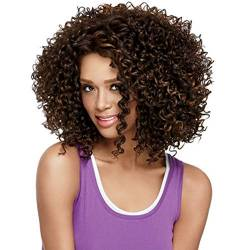 Women ' S Wig Short Curly Wavy Party Hair Daily Use,Brown von CHB