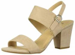 CL by Chinese Laundry Damen Spot ON Sandalen mit Absatz, Hautfarben-Nude Suede, 41 EU von CL by Chinese Laundry