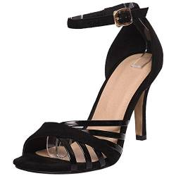 COOLCEPT Damen Riemchensandalen High Heel Sandaletten Party Buro Schuhe Black Size 39 Asian von COOLCEPT