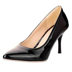 COOLCEPT Mode-Event Damen Basic Simple Pointed Toe Stiletto Heels Work Pumps (45 EU,Black) von COOLCEPT