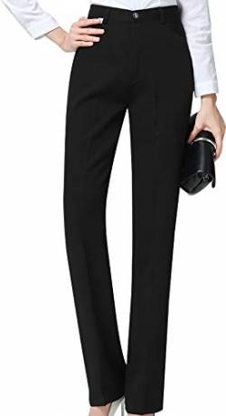 CYSTYLE Damen Hohe Taille Gerade Hose Kellnerhose Anzug Hose Anzughose Service Classic Style (S) von CYSTYLE