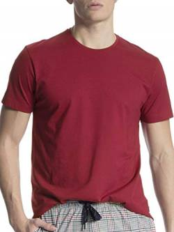 Calida Herren Remix Basic T-Shirt, Rot (Umba Red 159), Medium (Herstellergröße: M) von Calida