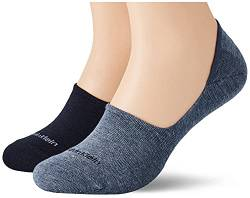 Calvin Klein Socks Mens CK Women Liner 2P Sparkle Stripe Alice Socks, Denim Combo, 39/42 von Calvin Klein