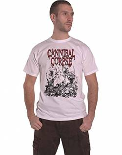 Cannibal Corpse Pile of Skulls T-Shirt weiß XL von Cannibal Corpse