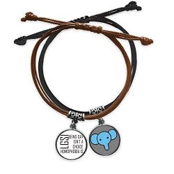 "CaoGSH Armband mit Zitat ""Don't Let Others Ride Your Back"", Leder, Elefanten-Armband von CaoGSH"