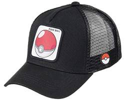 Capslab Pokeball Trucker Cap Pokemon Black - One-Size von Capslab