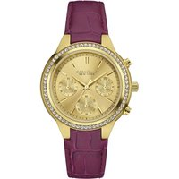 Caravelle New York Boyfriend Damenchronograph in Lila 44L182 von Caravelle New York