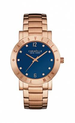 Caravelle New York Damen-Armbanduhr NEW BOYFRIEND Analog Quarz Edelstahl beschichtet 44L202 von Caravelle New York