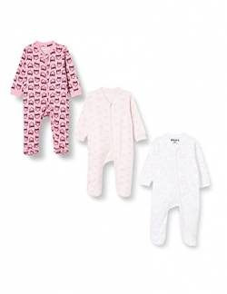 Amazon Exclusive: Care Baby Strampler mit Zip im 3er Pack, Pink (Old Rose 556), 50 von Care