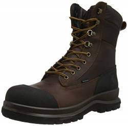 Carhartt Herren Detroit 8 Inch Rugged Flex Waterproof S3 Work Boot Construction Shoe, Dark Brown, 45 EU von Carhartt