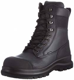 Carhartt Herren Detroit 8 Inch Rugged Flex Waterproof S3 Work Boot Construction Shoe, Schwarz, 44 EU von Carhartt