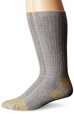 Carhartt Unisex-Adult Steel Toe Work Boot (2-Pair) SOCKS, Grey, L von Carhartt