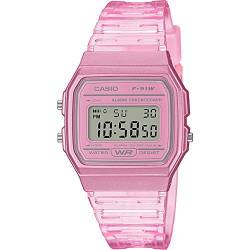CASIO Damen Digital Quarz Uhr mit Resin Armband F-91WS-4EF von Casio