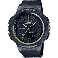 Casio Baby-G Step Counter Damenchronograph in Schwarz BGS-100-1AER von Casio