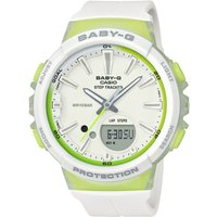 Casio Baby-G Step Counter Damenchronograph in Weiß BGS-100-7A2ER von Casio