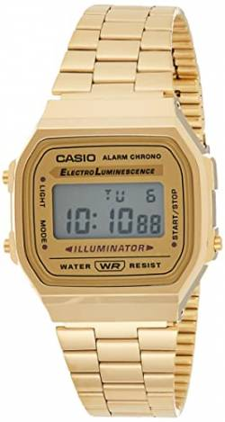Casio Collection Unisex Retro Armbanduhr A168WG-9EF von Casio Watches