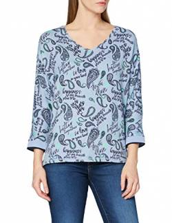 Cecil Damen 315473 T-Shirt, Light Blue Melange, Large von Cecil