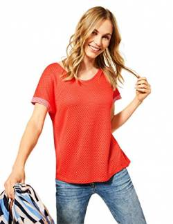 Cecil Damen 316069 T-Shirt, Papaya orange, L von Cecil