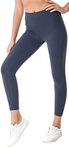 Chaos World Sporthose Damen High Waist Sport Leggings Elastische Tummy Control Yogahose Jogginghosen (Dunkel Grau,XL/Tag 12) von Chaos World