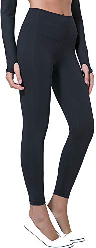 Chaos World Sporthose Damen High Waist Sport Leggings Elastische Tummy Control Yogahose Jogginghosen (Schwarz,XL/Tag 12) von Chaos World