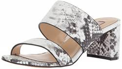 Chinese Laundry Kristin Cavallari Women's Lakeview Heeled Sandal, Grey/White Leather, 8 M US von Chinese Laundry Kristin Cavallari
