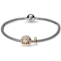 Damen Christina 18cm Armband With Charm Sterling-Silber 615-18G-MARGUERITE von Christina Jewellery
