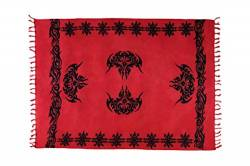 Sarong Pareo Wickelrock Strandtuch Handtuch Lunghi Dhoti Wandbehang Tribal Celtic Dunkel Rot von Ciffre
