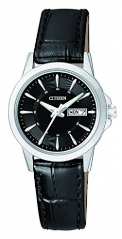 Citizen Damen-Armbanduhr Analog Quarz Leder EQ0601-03EE von Citizen
