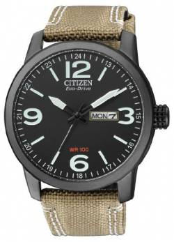 Citizen Herren Analog Quarz Uhr mit Nylon Armband BM8476-23EE von Citizen