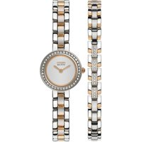 Citizen Silhouette Crystal Bracelet Gift Set Damenuhr in Zweifarbig EX1086-68A von Citizen
