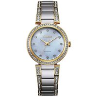 Citizen Silhouette Crystal Silhouette Crystal Damenuhr in Silber EM0844-58D von Citizen